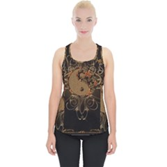 The Sign Ying And Yang With Floral Elements Piece Up Tank Top by FantasyWorld7