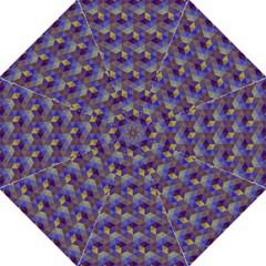 Hexagon Cube Bee Cell Purple Pattern Golf Umbrellas by Cveti