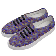 Hexagon Cube Bee Cell Purple Pattern Women s Classic Low Top Sneakers by Cveti
