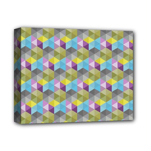 Hexagon Cube Bee Cell 1 Pattern Deluxe Canvas 14  X 11  by Cveti