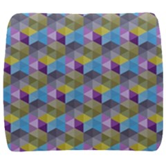 Hexagon Cube Bee Cell 1 Pattern Back Support Cushion by Cveti