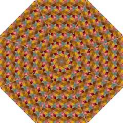 Hexagon Cube Bee Cell 2 Pattern Golf Umbrellas by Cveti
