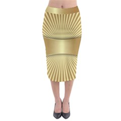 Gold8 Midi Pencil Skirt by 8fugoso