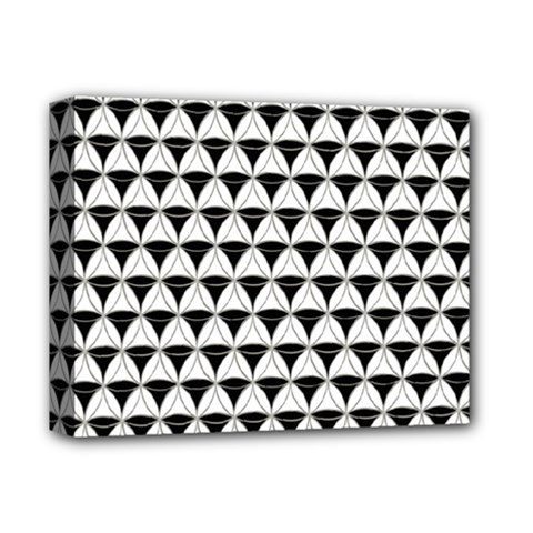 Diamond Pattern White Black Deluxe Canvas 14  X 11  by Cveti