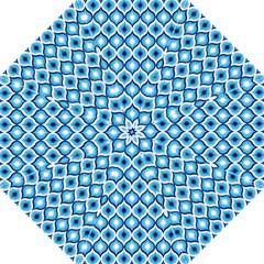 Blue Leaves Eyes Folding Umbrellas by Cveti