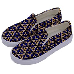 Snowflake Crystal Shapes 4 Kids  Canvas Slip Ons by Cveti