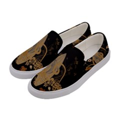 Hawaiian, Tropical Design With Surfboard Women s Canvas Slip Ons by FantasyWorld7