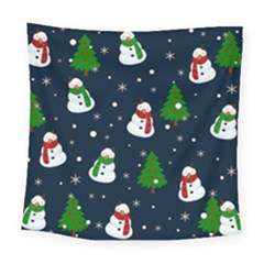Snowman Pattern Square Tapestry (large) by Valentinaart