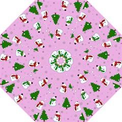 Snowman Pattern Folding Umbrellas by Valentinaart