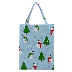 Snowman Pattern Classic Tote Bag by Valentinaart