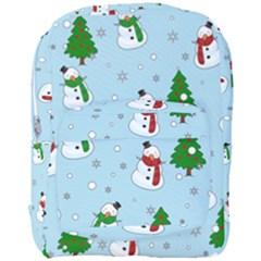Snowman Pattern Full Print Backpack by Valentinaart