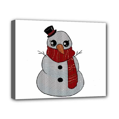 Kawaii Snowman Canvas 10  X 8  by Valentinaart