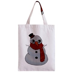Kawaii Snowman Classic Tote Bag by Valentinaart