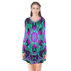 Pattern Flare Dress by gasi