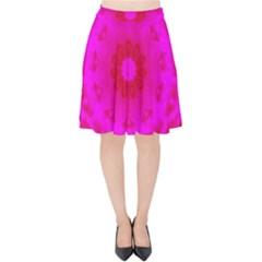Pattern Velvet High Waist Skirt by gasi