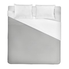 Grey And White Simulated Carbon Fiber Duvet Cover (full/ Double Size) by PodArtist