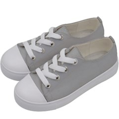 Grey And White Simulated Carbon Fiber Kids  Low Top Canvas Sneakers by PodArtist