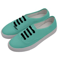 Tiffany Aqua Blue With White Lipstick Kisses Men s Classic Low Top Sneakers by PodArtist