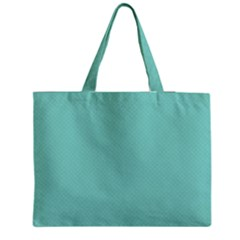 Tiffany Aqua Blue Puffy Quilted Pattern Medium Tote Bag by PodArtist