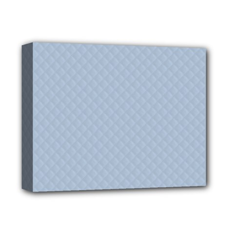 Powder Blue Stitched And Quilted Pattern Deluxe Canvas 14  X 11  by PodArtist