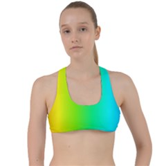 Pattern Criss Cross Racerback Sports Bra by gasi