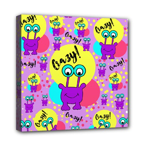 Crazy Mini Canvas 8  X 8  by gasi