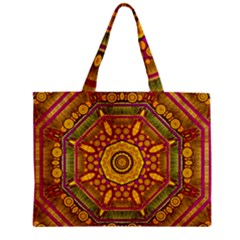 Sunshine Mandala And Other Golden Planets Mini Tote Bag by pepitasart