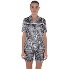 Frankfurt Judengasse Satin Short Sleeve Pyjamas Set