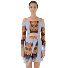 Mask India South Culture Off Shoulder Top With Skirt Set
