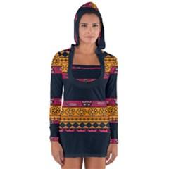 Pattern Ornaments Africa Safari Long Sleeve Hooded T Shirt