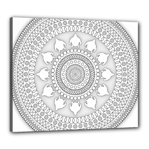 Mandala Ethnic Pattern Canvas 24  X 20  by Celenk