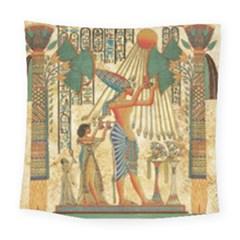 Egyptian Man Sun God Ra Amun Square Tapestry (large)