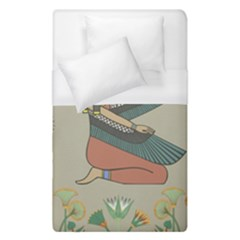 Egyptian Woman Wings Design Duvet Cover (single Size) by Celenk