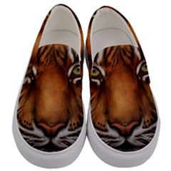 The Tiger Face Men s Canvas Slip Ons