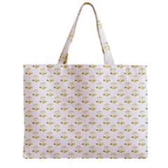 Gold Scales Of Justice On White Repeat Pattern All Over Print Zipper Mini Tote Bag by PodArtist