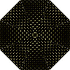 Gold Scales Of Justice On Black Repeat Pattern All Over Print  Golf Umbrellas by PodArtist