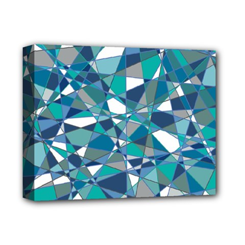 Abstract Background Blue Teal Deluxe Canvas 14  X 11  by Celenk