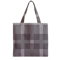 Gray Designs Transparency Square Zipper Grocery Tote Bag by Celenk