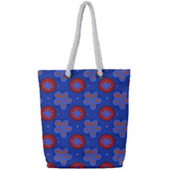 Seamless Tile Repeat Pattern Full Print Rope Handle Bag (small)