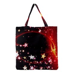 Circle Lines Wave Star Abstract Grocery Tote Bag by Celenk