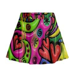 Seamless Texture Pattern Tile Mini Flare Skirt