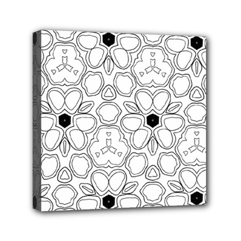 Pattern Zentangle Handdrawn Design Mini Canvas 6  X 6  by Celenk