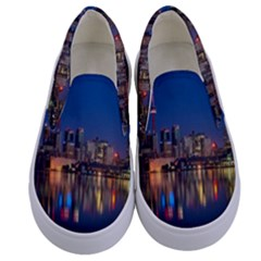 Buildings Can Cn Tower Canada Kids  Canvas Slip Ons