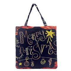 Chalk Chalkboard Board Frame Grocery Tote Bag by Celenk