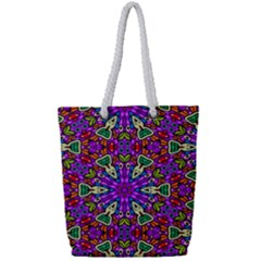 Seamless Tileable Pattern Design Full Print Rope Handle Bag (small)
