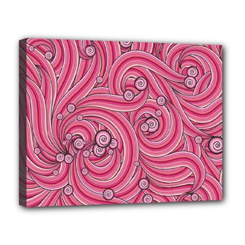 Pattern Doodle Design Drawing Canvas 14  X 11  by Celenk