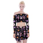 Planet Say Ten Off Shoulder Top with Mini Skirt Set