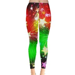 Star Abstract Pattern Background Leggings  by Celenk