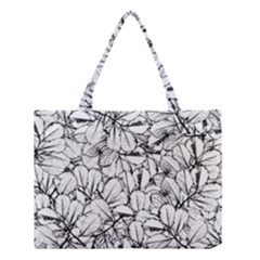 White Leaves Medium Tote Bag by SimplyColor