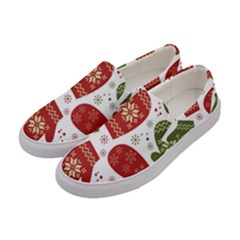 Winter Snow Mittens Women s Canvas Slip Ons by allthingseveryone